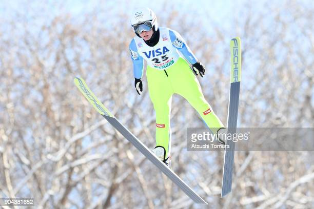 Jacqueline Seifriedsberger of Austria competes in the Ladies normal hill individual during day one of the FIS Ski Jumping Women's World cup at...