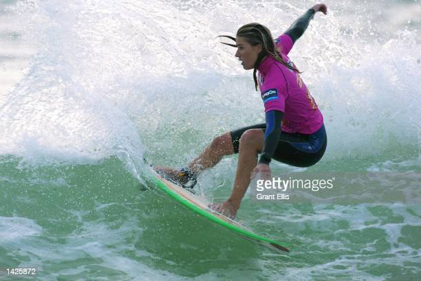 Jacqueline Silva of Brazil lost her round of the Figueira Pro at Figueira da Foz in Portugal on September 21 2002 The Figueira Pro kicks off the...