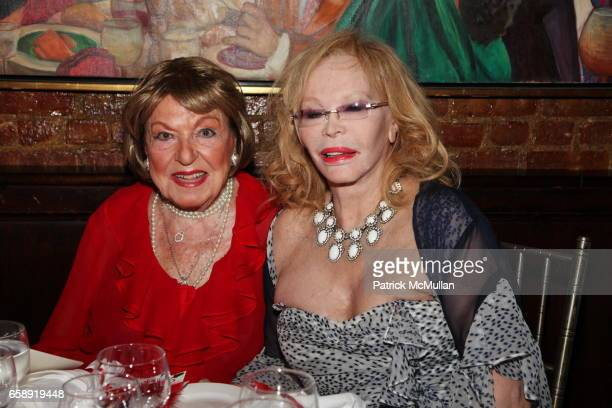 Jacqueline Stone and Monique van Vooren attend Monique van Vooren Hosts a Birthday Party for Jacqueline Stone at Chez Josephine on August 18 2009 in...