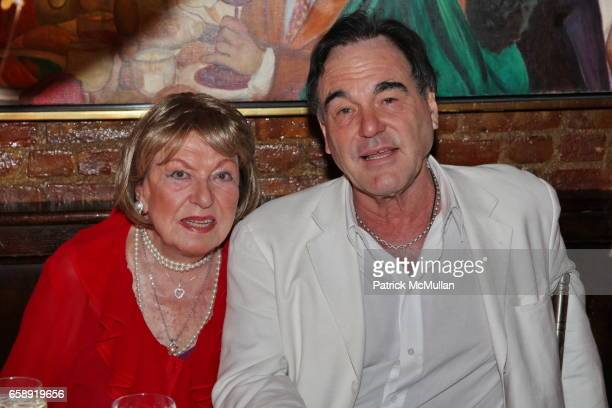 Jacqueline Stone and Oliver Stone attend Monique van Vooren Hosts a Birthday Party for Jacqueline Stone at Chez Josephine on August 18 2009 in New...