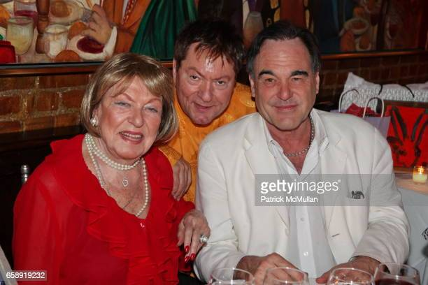 Jacqueline Stone JeanClaude Baker and Oliver Stone attend Monique van Vooren Hosts a Birthday Party for Jacqueline Stone at Chez Josephine on August...