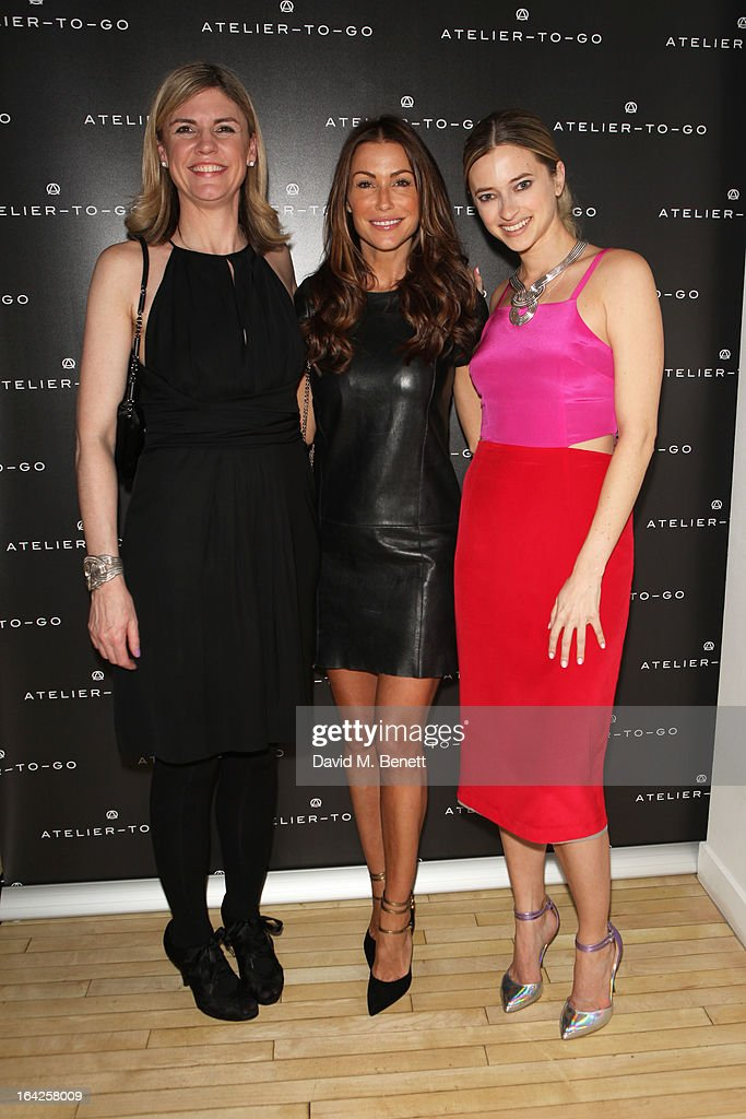 Jacqueline Stuart (L) and Sasha Ternent (R) attend the launch party for Atelier-To-Go at Agua Spa, The Sanderson Hotel on March 21, 2013 in London, England. Atelier-To-Go is a brand-new fashion platform that offers a carefully-curated edit of contemporary labels, with a mix of luxe essentials & must-have trends, to offer a complete, covetable wardrobe.