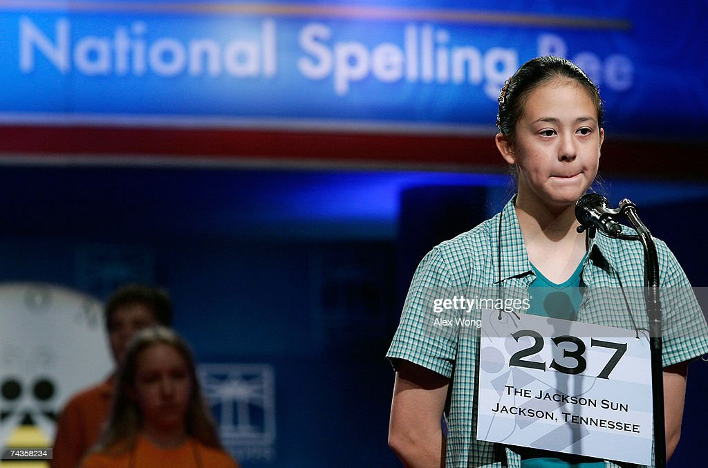 Students Compete In 2007 Scripps National Spelling Bee : ニュース写真