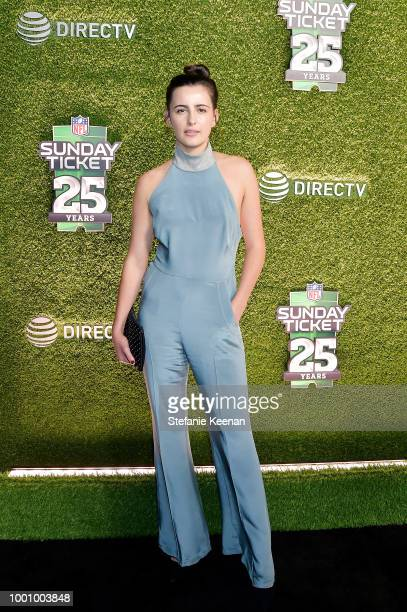 Jacqueline Toboni attends DIRECTV CELEBRATES 25th Season of NFL SUNDAY TICKET at Nomad Hotel Los Angeles on July 17 2018 in Los Angeles California