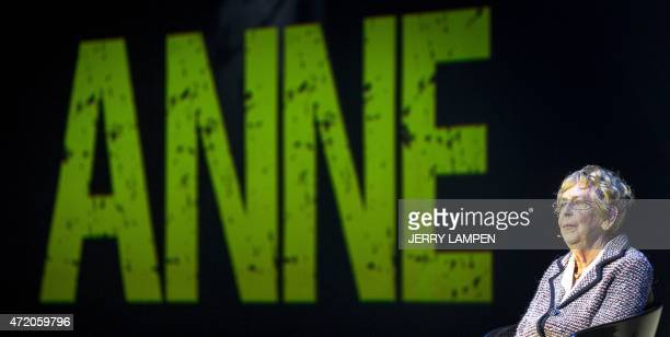 Jacqueline van Maarsen a former class mate of Anne Frank at the Jewish Lyceum attends the theater performance ANNE based on the life of Anne Frank on...