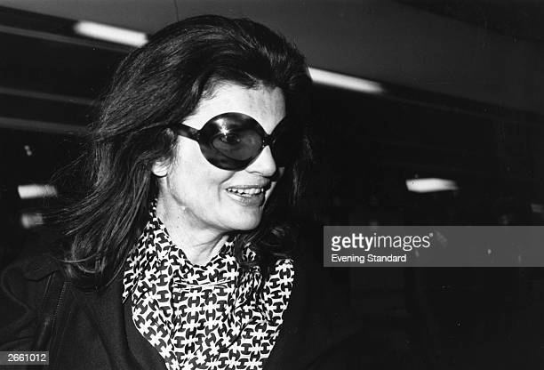 Jacqueline , widow of American President John F Kennedy who married Greek born Argentinian ship owner Aristotle Onassis in 1968.