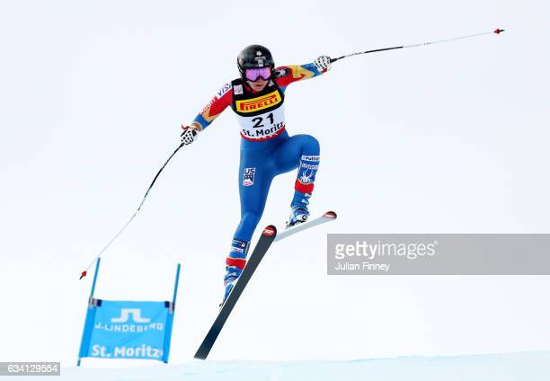 Jacqueline Wiles of the United States competes during the Women's Super G during the FIS Alpine World Ski Championships on February 7 2017 in St...