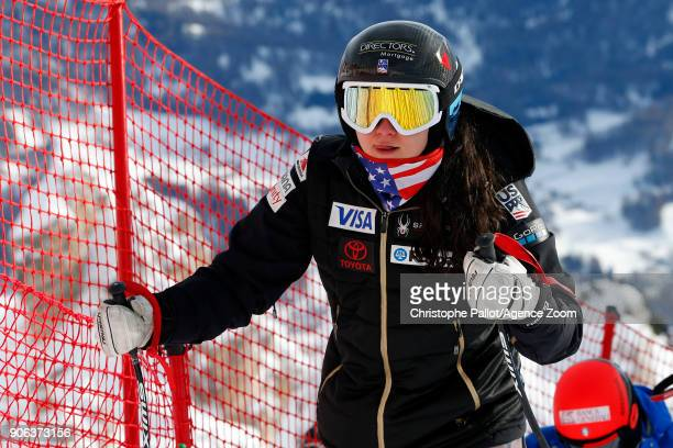 Jacqueline Wiles of USA A general view during the Audi FIS Alpine Ski World Cup Women's Downhill Training on January 18 2018 in Cortina d'Ampezzo...