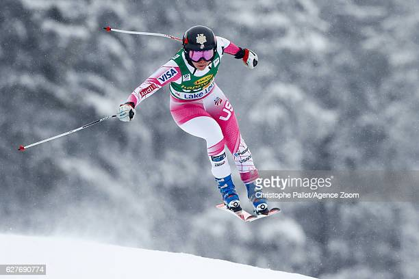 Jacqueline Wiles of USA competes during the Audi FIS Alpine Ski World Cup Women's SuperG on December 4 2016 in Lake Louise Canada