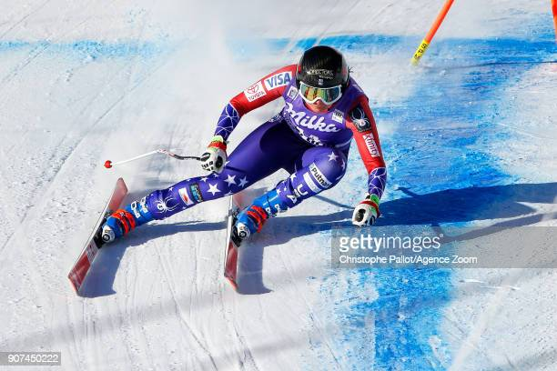 Jacqueline Wiles of USA competes during the Audi FIS Alpine Ski World Cup Women's Downhill on January 20 2018 in Cortina d'Ampezzo Italy