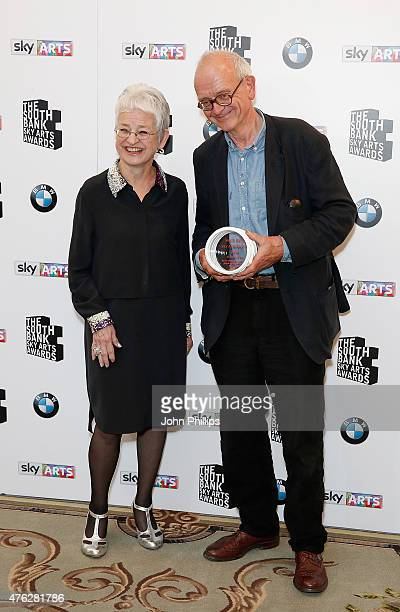 Jacqueline Wilson with Neurosurgeon/Writer Henry Marsh winner of the Literature award for 'Do No Harm Stories Of Life Death and Brain Surgery' in the...
