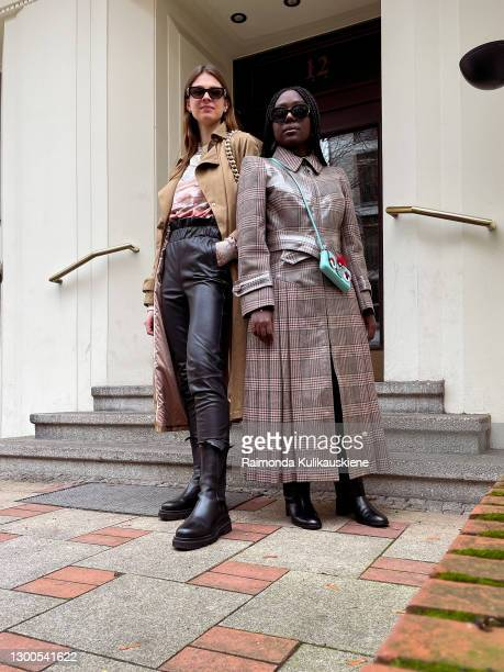 Jacqueline Zelwis wearing Copenhagen Muse coat, Holzweiler Shirt, Dante6 pants, Toral boots, ATP Atelier bag and Versace sunglasses and Lois Opoku...