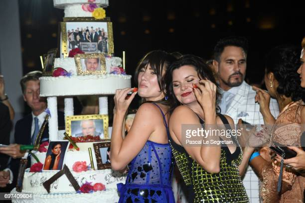 Jacquelines MacInnes Wood and Heather Tom attend the 'The Bold and The Beautiful' 30th Years anniversary during the 57th Monte Carlo TV Festival Day...