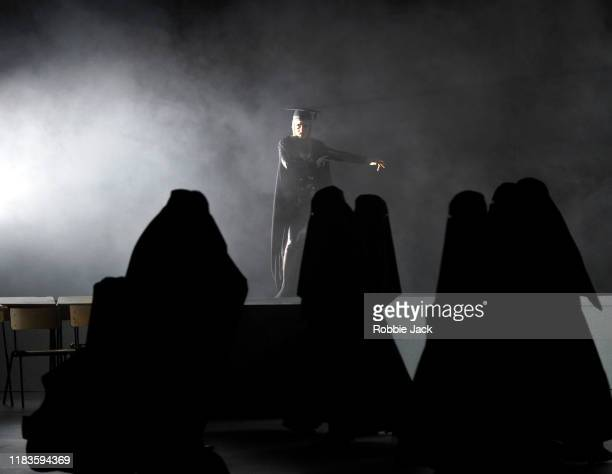 Jacquelyn Stucker as Armida with artists of the company in Glyndebourne Opera's production of Handel's Rinaldo directed by Robert Carsen and...