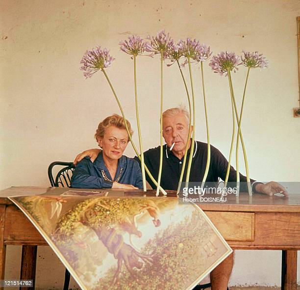 Jacques And Janine Prevert In Antibes 1963