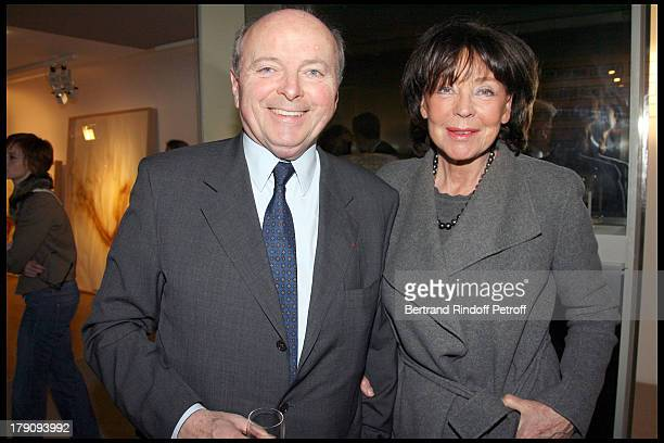 Jacques and Lise Toubon at Opening Exhibition Of Ecritures Silencieuses At Espace Culturel Louis Vuitton