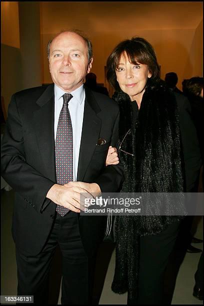 Jacques and Lise Toubon at the Preview Of The Exhibition Pierre Bonnard L'Oeuvre D'Art Un Arret Du Temps At Musee D'Art Moderne in Paris