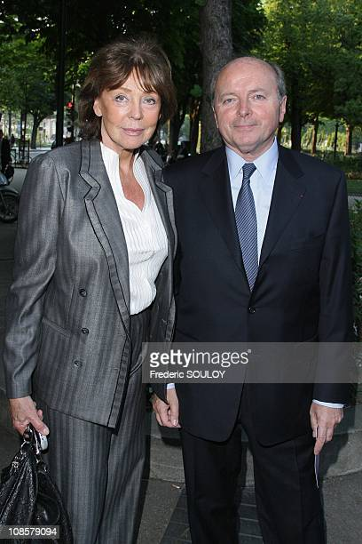 Jacques and Lise Toubon in Paris France on June 09 2008