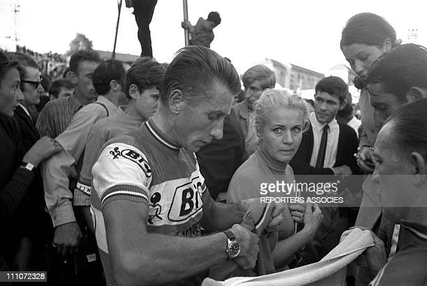 Jacques Anquetil and his wife Jeanine in Besancon France on September 26 1964