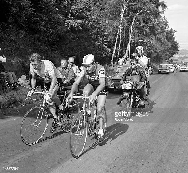 Jacques Anquetil and Raymond Poulidor French racing cyclists 1964 Tour de France