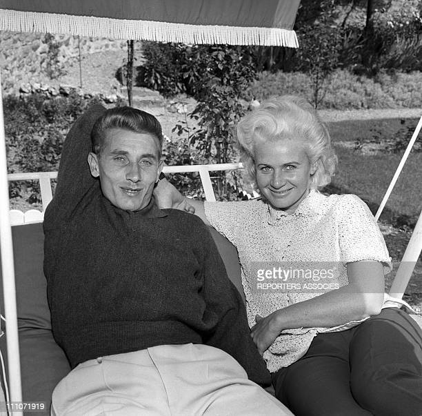 Jacques Anquetil and wife Jeanine in France on July 01 1962