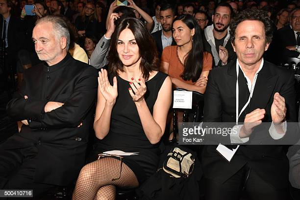 Jacques Attali Helena Noguerra and PR Gerald Cohen attend the 'Positive Awards' Ceremony at La Gaiete Lyrique on December 7 2015 in Paris France
