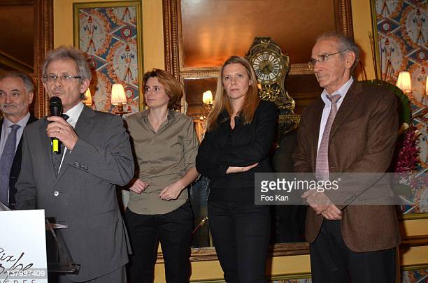 PARIS FRANCE JANUARY Jacques Attali JeanMichel Texier Caroline Fourest Aude Lancelin and Francois de Closets attend the Procope Des Lumieres'...