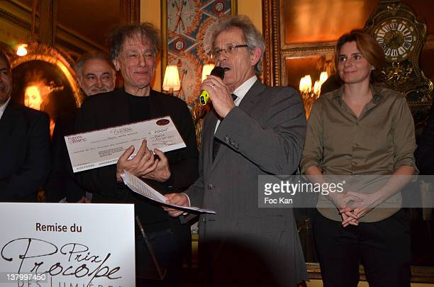 Jacques Attali Procope 2012 award recipient Ruwen Ogien JeanMichel Texier and Caroline Fourest attend the Procope Des Lumieres' Literary Awards First...