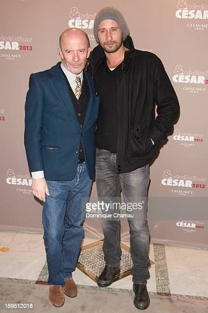Jacques Audiard and Matthias Schoenaerts attend the 'Cesar's Revelations 2013' Dinner Arrivals at Le Meurice on January 14 2013 in Paris France