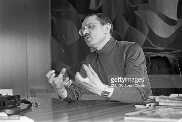 Jacques Borel Father Of Restoroutes A Paris dans son bureau du 27ème étage de la Tour Montparnasse à l'occasion de sa démission du groupe 'Jacques...