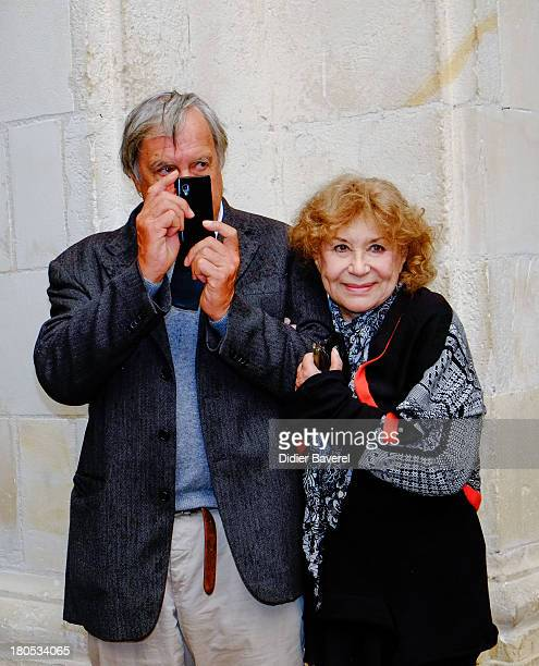 Jacques Boudet and Claire Maurier pose during the photocall of 'La Famille Katz' at 15th Festival of TV Fiction on September 14 2013 in La Rochelle...
