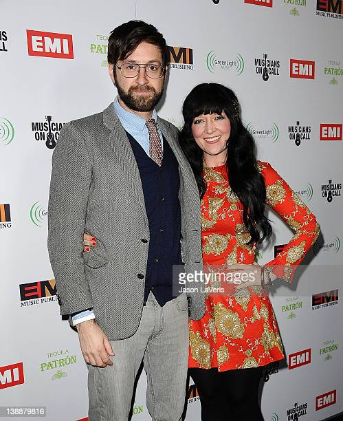 Jacques Brautbar and Jasmine Ash attend the EMI Grammy after party on February 12, 2012 in Hollywood, California.