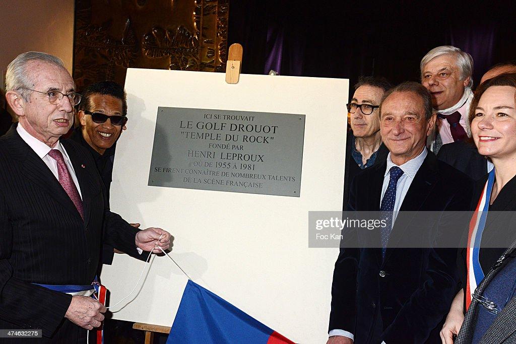Unveiling of The Plaque 'Golf Drouot' In Paris