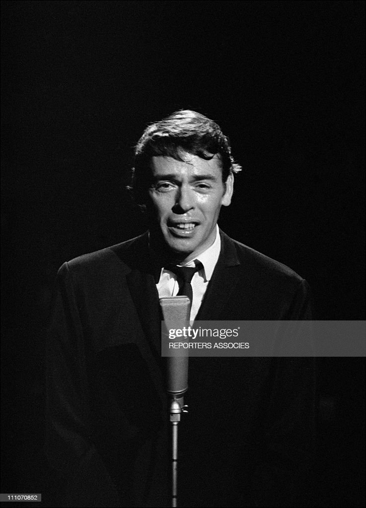 Jacques Brel At The ' Palmares Des Chansons' At The