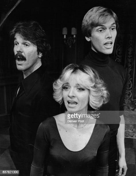 Jacques Brel' Opens At Bonfils Theater's Bo-Ban's Cabaret Cast includes, from left, Terry McDonald, B.J. Gibbons and John Gardner. Credit: Denver Post
