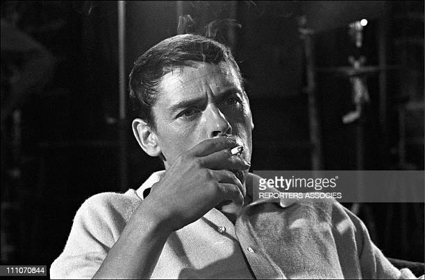 Jacques Brel shooting ' Les Risques du Metier' in France on July 21 1967