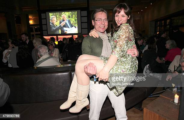 Jacques Breuer and his wife Viola Breuer attend the NDF After Work Presse Cocktail at Parkcafe on March 19 2014 in Munich Germany