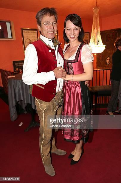Jacques Breuer and his wife Viola Wedekind during the 'Gluecklich die Gluecklichen' premiere at Komoedie im Bayerischen Hof on October 3 2016 in...