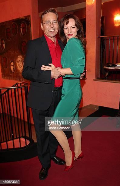 Jacques Breuer and his wife Viola Wedekind during the premiere 'Mein Freund Harvey' at Komoedie im Bayerischen Hof on November 26 2014 in Munich...