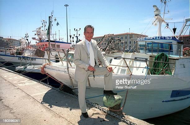 Jacques Breuer ARDFilm Achte Todsünde II Das Toskana Karussell Pisa/Italien Hafen Motorboot Boot