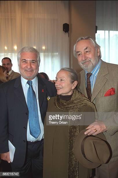 Jacques Brialy Monique Chaumette and Philippe Noiret