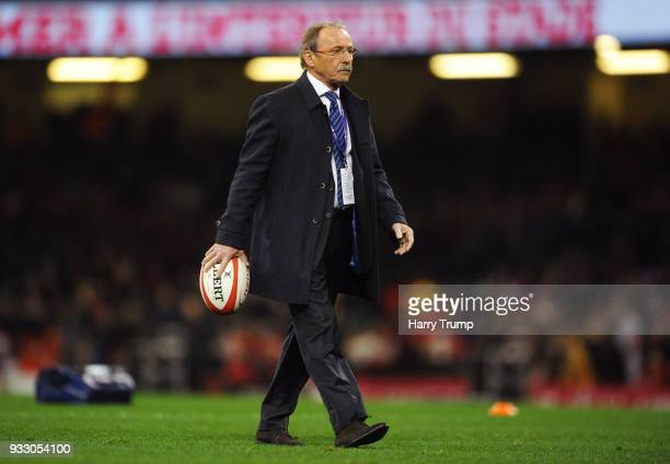 Jacques Brunel head coach of France looks on prior to the NatWest Six Nations match between Wales and France at Principality Stadium on March 17 2018...