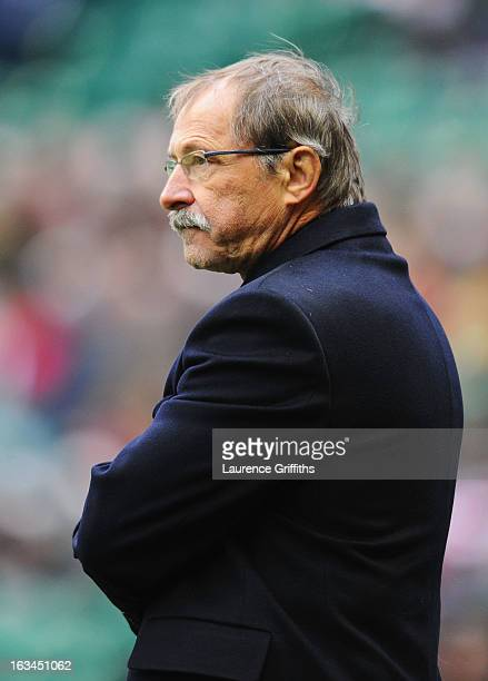 Jacques Brunel head coach of Italy looks on prior to the RBS Six Nations match England and Italy at Twickenham Stadium on March 10 2013 in London...