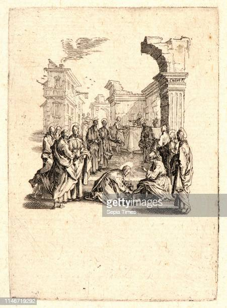 Jacques Callot . Christ Washing the Apostles' Feet , 1624. From The Small Passion. Etching and engraving.