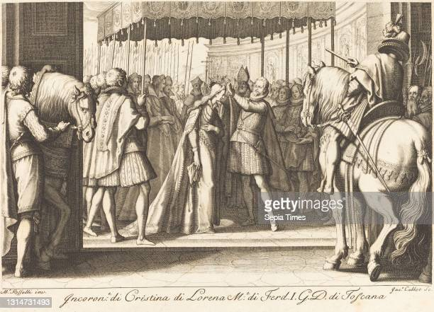 Jacques Callot, , French, 1592 - 1635, Crowning of the Grand Duchess, The Life of Ferdinando de'Medici, , c. 1614, engraving.