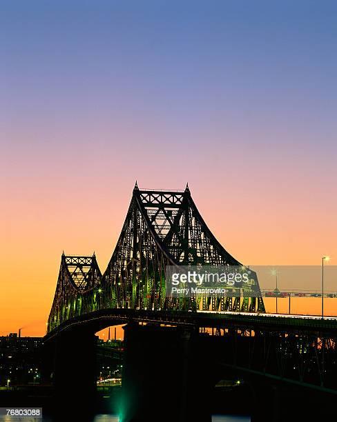Jacques Cartier Bridge at sunset, Montreal, Quebec, Canada