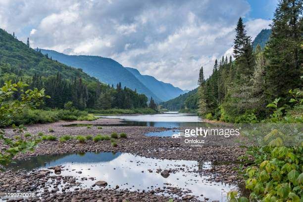 jacques cartier nature landscape national park, quebec, canada - dramatic landscape stock pictures, royalty-free photos & images