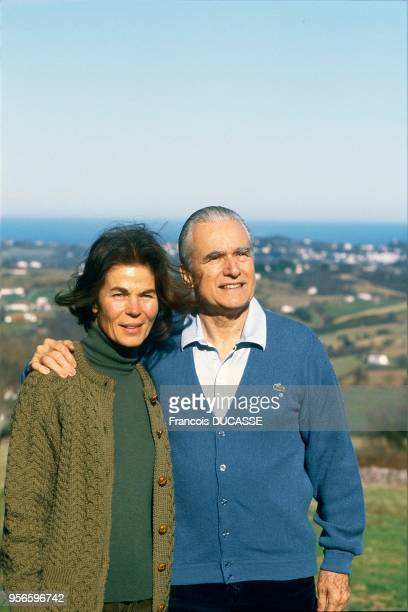 Jacques CHABAN DELMAS with his wife in Ascain 19860000 Jacques CHABAN DELMAS et sa femme Micheline à Ascain 19860000