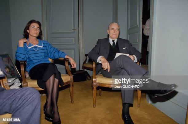 Jacques ChabanDelmas et son épouse Micheline le 16 mars 1986 à Bordeaux France