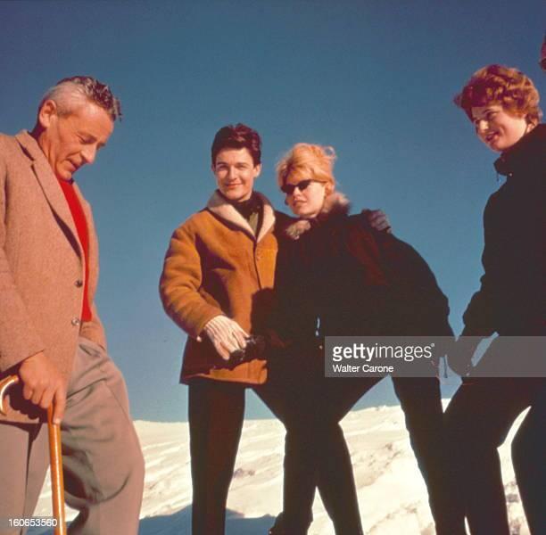 Jacques Charrier And Brigitte Bardot In Chamonix Brigitte BARDOT avec Jacques CHARRIER à Chamonix rencontre au sommet avec PaulEmile VICTOR